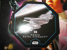 STAR WARS LECLERC CARTE JETON NABOO ROYAL STARSHIP 36/54 COSMIC SHELLS FRENCH