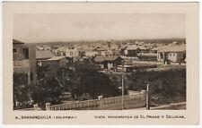 BARRANQUILLA COLOMBIA RPPC RP Real Photo Postcard EL PRADO Panorama COLOMBIAN
