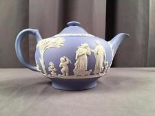 Vintage Wedgwood Jasperware Light Blue Classical Relief Tea Pot 1954