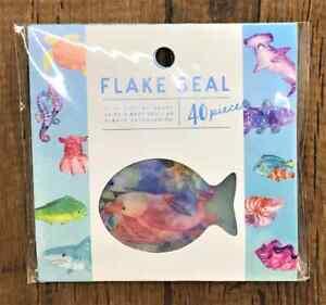 Sticker Aquarium Summer Japan  Flake Stickers DIY  40 Scrapbooking