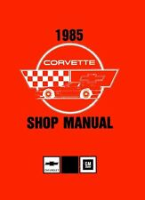 1985 Corvette Shop Service Repair Manual Book