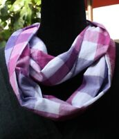 Infinity scarf, beautiful prints,100% cotton, striped, floral or eyelet,handmade