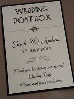 Handmade Personalised Vintage Style Portrait Wedding Post Box Wishing Well Sign