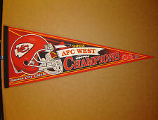 2003 Kansas City Chiefs Division Champions NFL Football Pennant