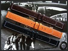 18mm XL Brown Genuine Pigskin 1940s WWII Vintage watchband strap IW SUISSE 16-20
