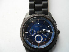 Fossil chronograph mens silicon/rubber band Dress watch.Fs-4605,Analog& battery