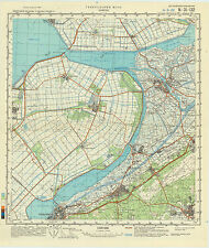 Russian Soviet Military Topographic Maps -  KAMPEN (Netherlands) 1:100 000