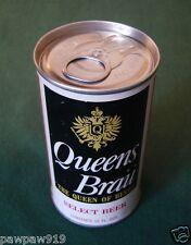 QUEENS BRAU BEER CAN 12 OZ STEEL METAL ALUMINUM PULL TAB TOP BO VINTAGE 1970's