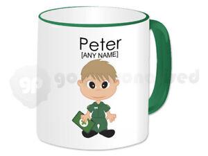 Personalised Gift Male Paramedic Mug Emergency Service Staff Present Green #1