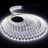 16.4ft 5m 5050 White SMD 300 LED Strip Light Flexible Non Waterproof DC 12V