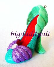 New Disney Parks Little Mermaid Ariel Princess Shoe Ornament Christmas Holiday