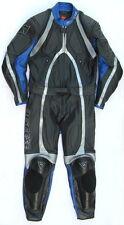 Top DAINESE T-Age Gr. 48 Zweiteiler Lederkombi schwarz blau silber