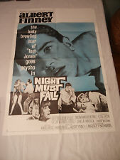 "Original 1964 One Sheet Film Movie Poster, ""Night Must Fall"" , Albert Finney"