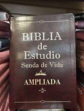Biblia De Estudio Senda De Vida Ampliada Piel Cafe 1960