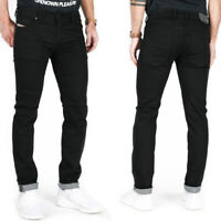 Diesel Mens Slim Skinny Fit Black Stretch Denim Jeans | Troxer 0R84A