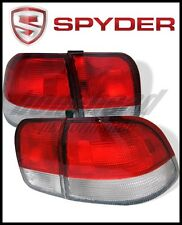 Spyder Honda Civic 96-98 4Dr Euro Style Tail Lights Red Clear