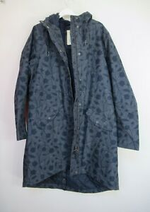 New Womens Seasalt Plant Hunter 2 Raincoat Jacket Fathom Size 12