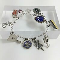 Sterling Silver 925 JMS Charm Bracelet Dartmouth Girl Scout Jewelry Woman Gift