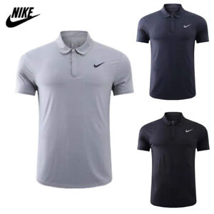 Nike Mens Polo Shirt Sports Golf Short Sleeved Breathable Summer Tennis Tops