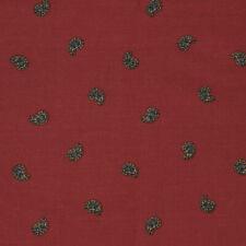 """1.3 meters Vintage Sanderson """"Cuquet"""" Paisley cotton fabric Burgundy"""