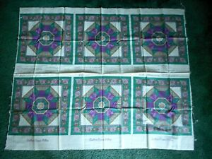 Panels, Quilters Corner Pillow, purple, brown, green, white - 1 piece, 6 panels