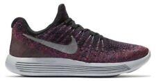 Nike lunarepic bajo Flyknit 2 Negro Metálico Plata UK 5.5 Nuevo Y En Caja 863780 015 Runnin