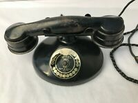 Marvel No 40 Electric Metal Push to Buzz Telephone Quam Nichols Chicago Antique