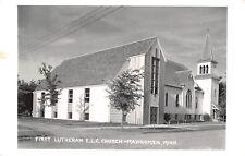 Mahnomen Minnesota~First Lutheran ELC Church~Annex~1962 Real Photo Postcard~RPPC