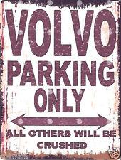 VOLVO PARKING SIGN RETRO VINTAGE STYLE 6x8in 20x15cm garage workshop