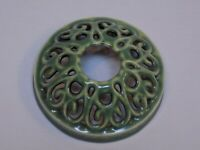 Yankee Candle Jar Lid Cover Illuma-Lid Green Ceramic Decorative Toppers Display