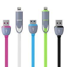 SUPER veloce di ricarica 2 in 1 Micro USB Cavo Caricabatteria per i dati per iPhone e Android