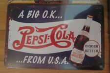PEPSI COLA SIGN MAN CAVE SIGN 30 BY 20 CM