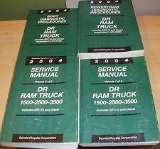 2004 Dodge Ram Truck Service Manual Vol 1 2 + Diagnostic Procedures Set Diesel