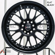 XXR 521 17X7 Rims 4x100/114.3 +38 Black Wheels (Set of 4)