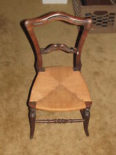 Antique Child's Wooden Chair with rope seat For formal use