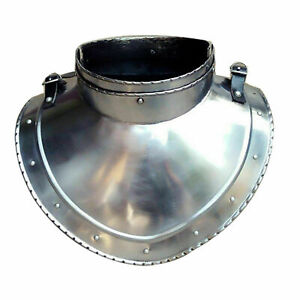 Epic Iron Gorget Set 18 Gauge Medieval Neck Plate Armour Knight Gothic Armor new