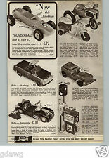 1966 PAPER AD Toy Ride-On Batmobile Marx Jeep Tractor Thunderball Honda Jr