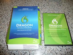 Nuance Dragon 11 Premium Naturally Speaking Speech Software SEALED NEW +training