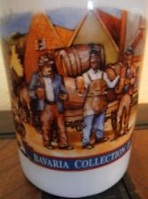 "New Stroh's German Beer Stein Mug Bavaria Collection II 5.5"" tall Ceramic White"