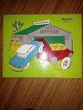 3 PLAYSKOOL Vintage Wooden Puzzles Fish 275- GARAGE 360-Humpty Dumpty 185    M
