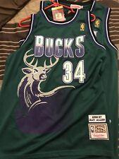 "Brand New Ray Allen  1996-97 ""BUCKS"" VTG HARDWOOD Purple Jersey,Stitched Size M"