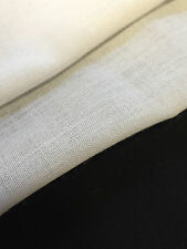 "60"" White 100% Linen Handkerchief Light Weight 3.5 OZ Woven Fabric By the Yard12"