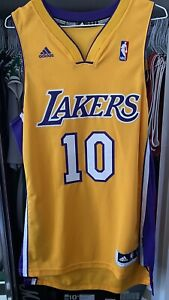 NBA LOS ANGELES LAKERS STEVE NASH JERSEY SWINGMAN ADIDAS NBA SIZE S YELLOW