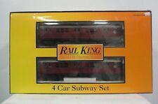 MTH Rail King Ready to Run 4 Car Subway Set Model Train # 30-2198-0