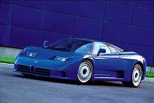 BUGATTI EB110 (1990s) Autophile Profile Cool Sports Car Wall POSTER
