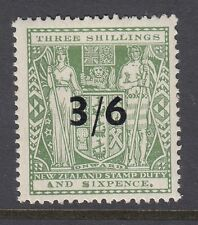 NEW ZEALAND 1940 SGF187 3/6 opt on 3/6 grey-green of NZ - mounted mint cat £80