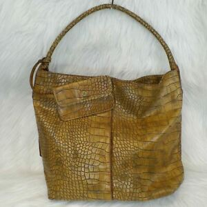 Simply Vera Wang Croc Embossed Extra Large Hobo Tote Bag with Coin Purse