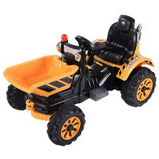 12V Battery Powered Kids Ride On Tipper Dumper Truck With Dump Bucket Yellow