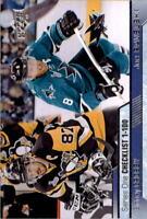 2016-17 Upper Deck Hockey #199 Sidney Crosby/Joe Pavelski Checklist
