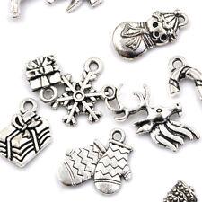 19x Tibetans Christmas Tree Snowflake Charm Pendant Diy Necklace Bracelets FO